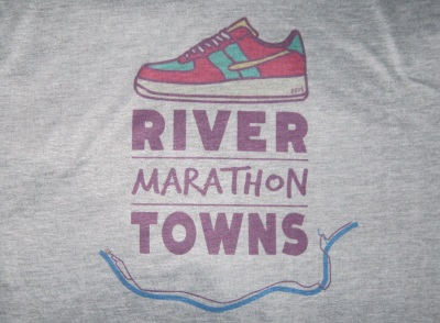 River Towns Marathon race shirt
