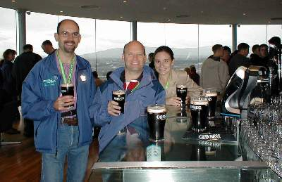 Guinness Storehouse: Ray, Scot, Jill