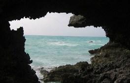 looking through rocks