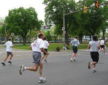 Ray races toward the finish