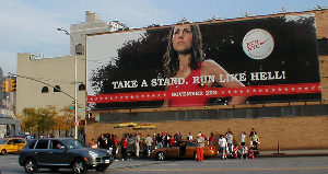 Marathon billboard