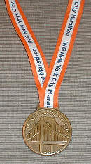 2003 NYC Marathon finisher medal