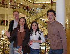 Jerry, Lorri, Maria, and Jack at indoor mall