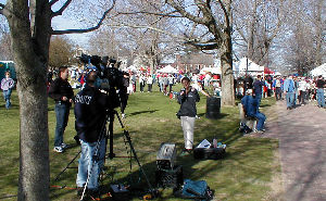 TV crew in Hopkinton