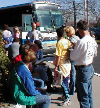 Delaware bus prepares for departure