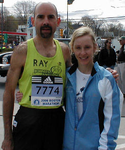 Ray and former coach Amy