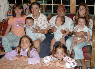 Mom & Dad with grandchildren