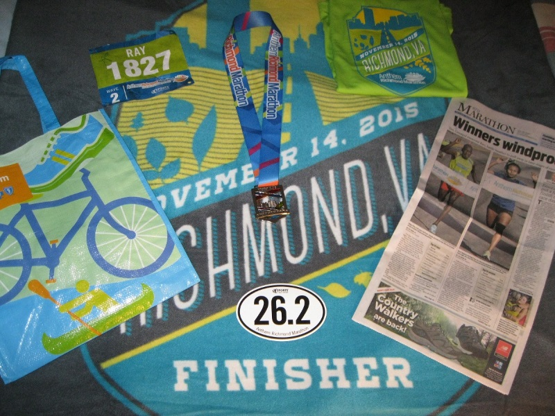 Richmond Marathon stuff