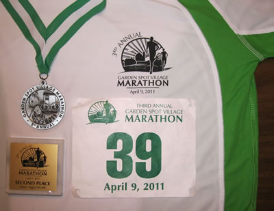 Race shirt & medal