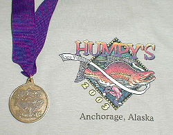 2003 Humpy's Marathon medal and shirt