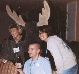 Dana, Brandi, Jason and a the Moose