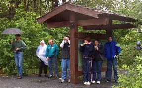 Photo Op in the rain at Portage Glacier - compliments of Dana