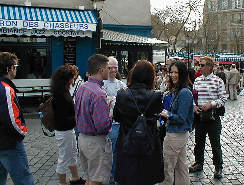 team at plaza near Sacre Coeur