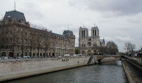 Notre Dame on the Seine River