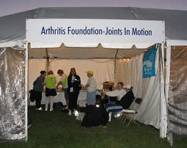 Joints in Motion tent
