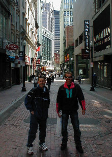 Ken and Keith at Downtown Crossing