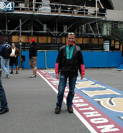Keith at Finish Line