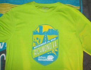 Richmond Marathon shirt
