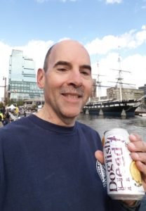 Marathon Man Ray with victory beer