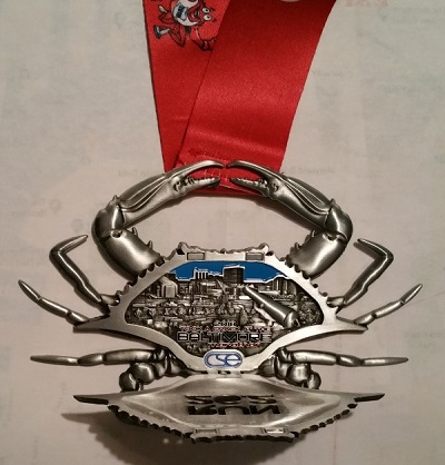 Baltimore Marathon finisher medal