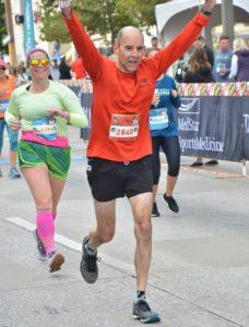 Marathon Man at finish