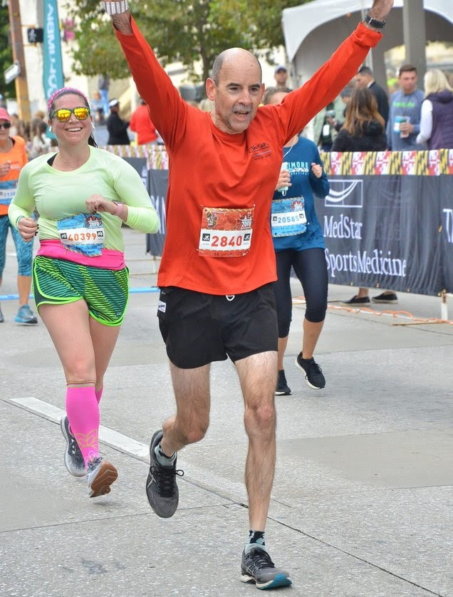 Marathon Man at finish