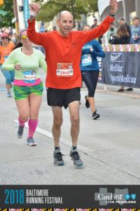 Baltimore Marathon finisher